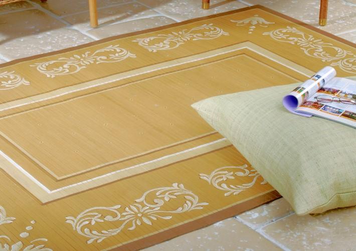 bambusteppich handbemalt aus siebenb rgen moderne teppiche online shop. Black Bedroom Furniture Sets. Home Design Ideas