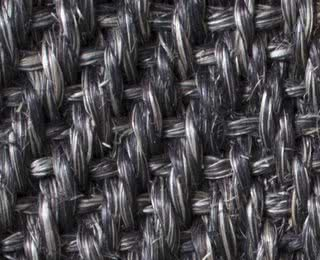 Sisal Fischgrat dunkelgrau-meliert mit Latexrücken