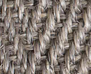 Sisal Fischgrat hellgrau-meliert mit Latexrücken