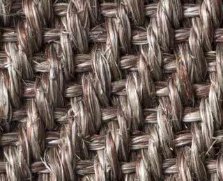 Sisal-Fischgrat-Gewebe braunmeliert mit Latexrücken