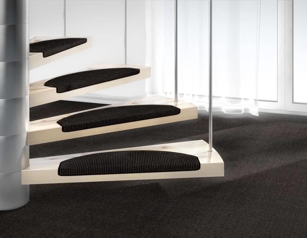 sisal stufenmatte mara schwarz von dekowe. Black Bedroom Furniture Sets. Home Design Ideas