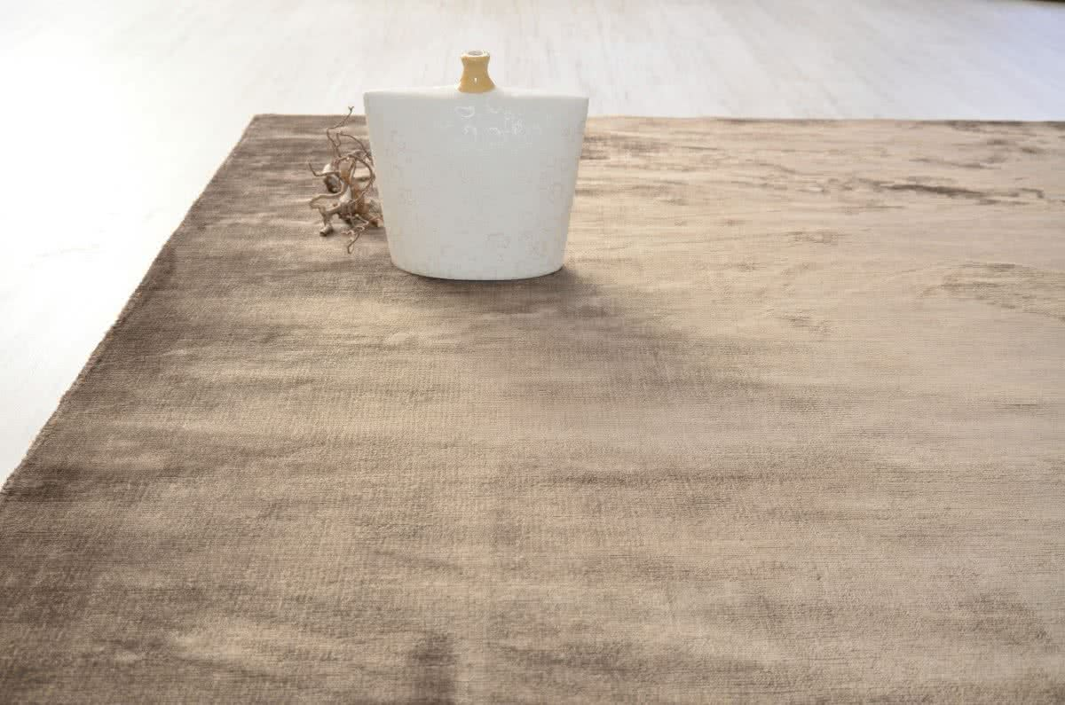 web teppich elegance silver brown wunschma handgewebt. Black Bedroom Furniture Sets. Home Design Ideas