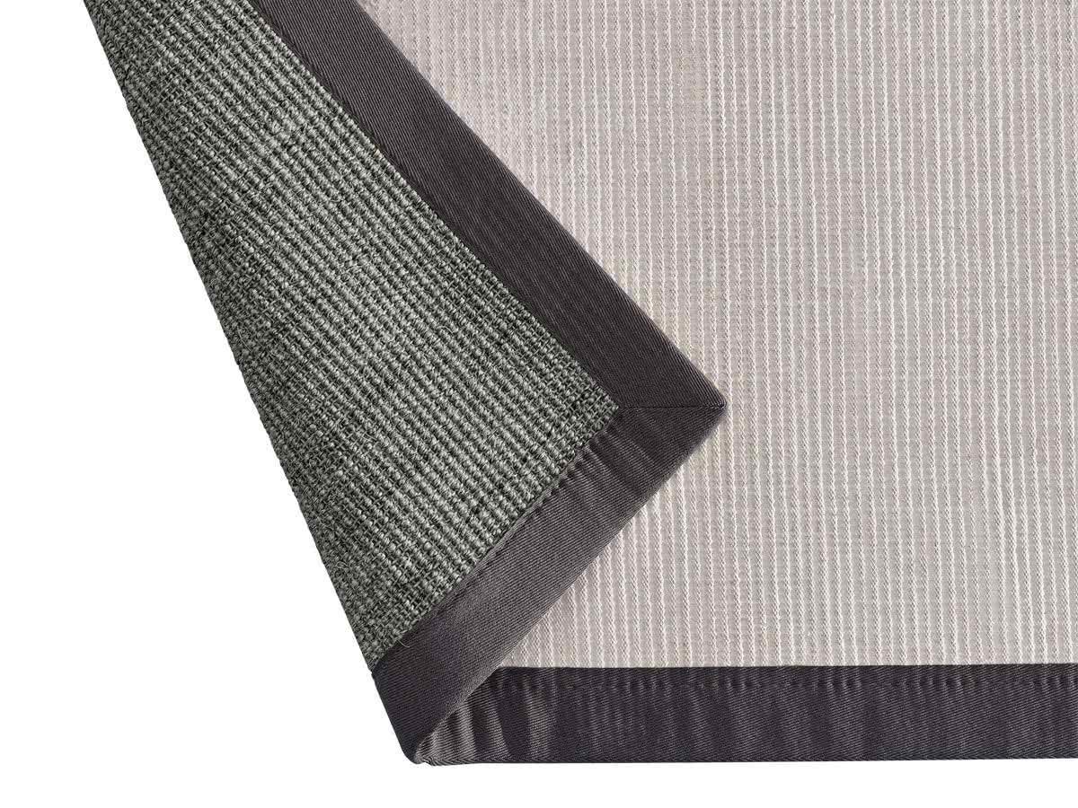 sisal teppich mara anthrazit mit polyesterbord re. Black Bedroom Furniture Sets. Home Design Ideas