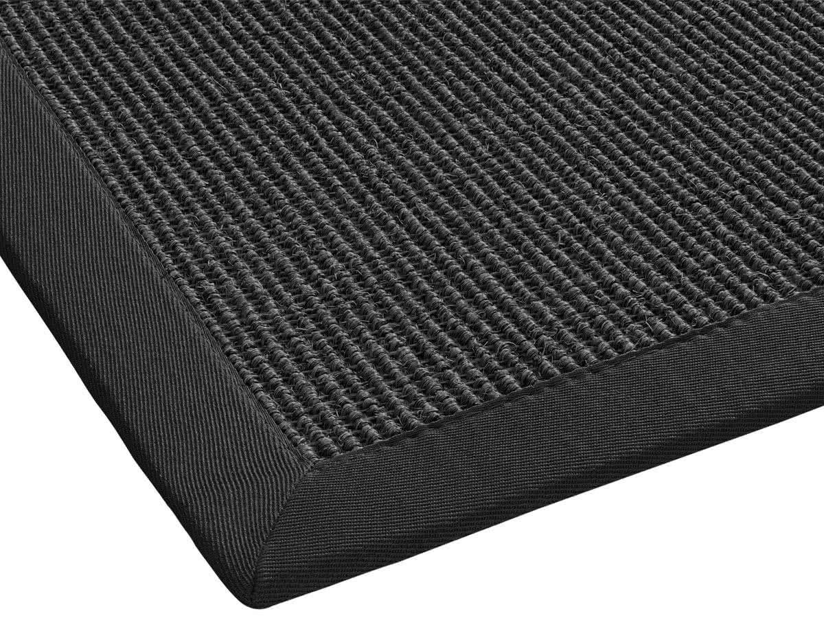 Sisal Teppich Mara Grau Mit Polyesterbordüre