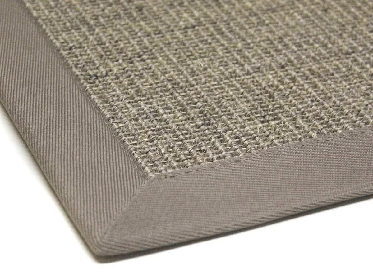 Sisal Teppich Mara Graumix Mit Polyesterbordüre