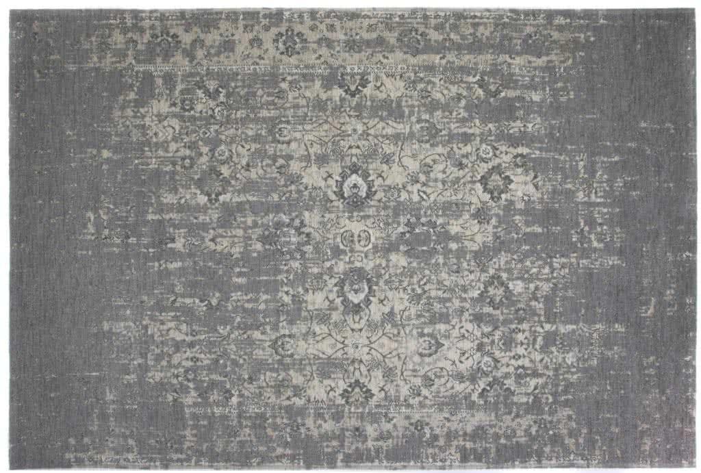 Vintage Teppich Struktur2 Hellgrau