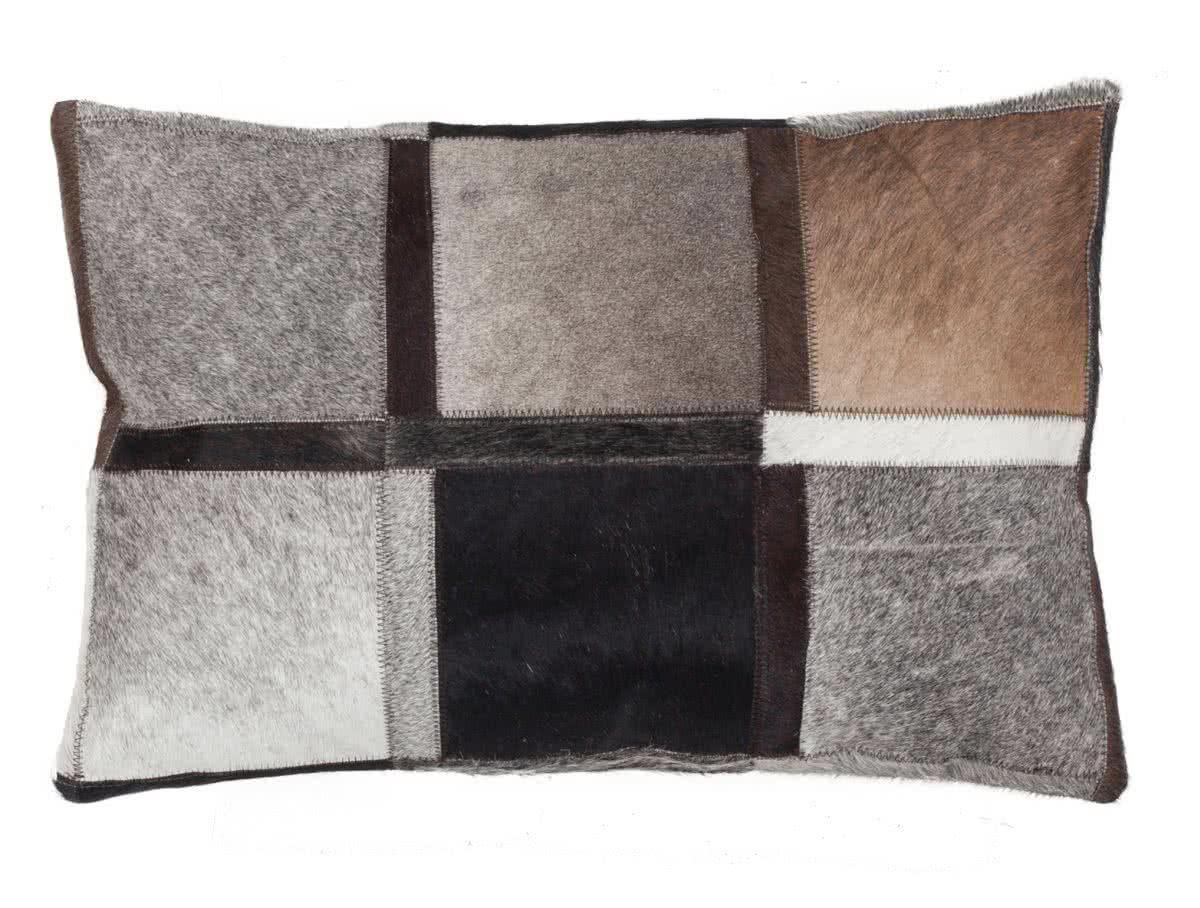 lavish leder kissen quadro grau. Black Bedroom Furniture Sets. Home Design Ideas