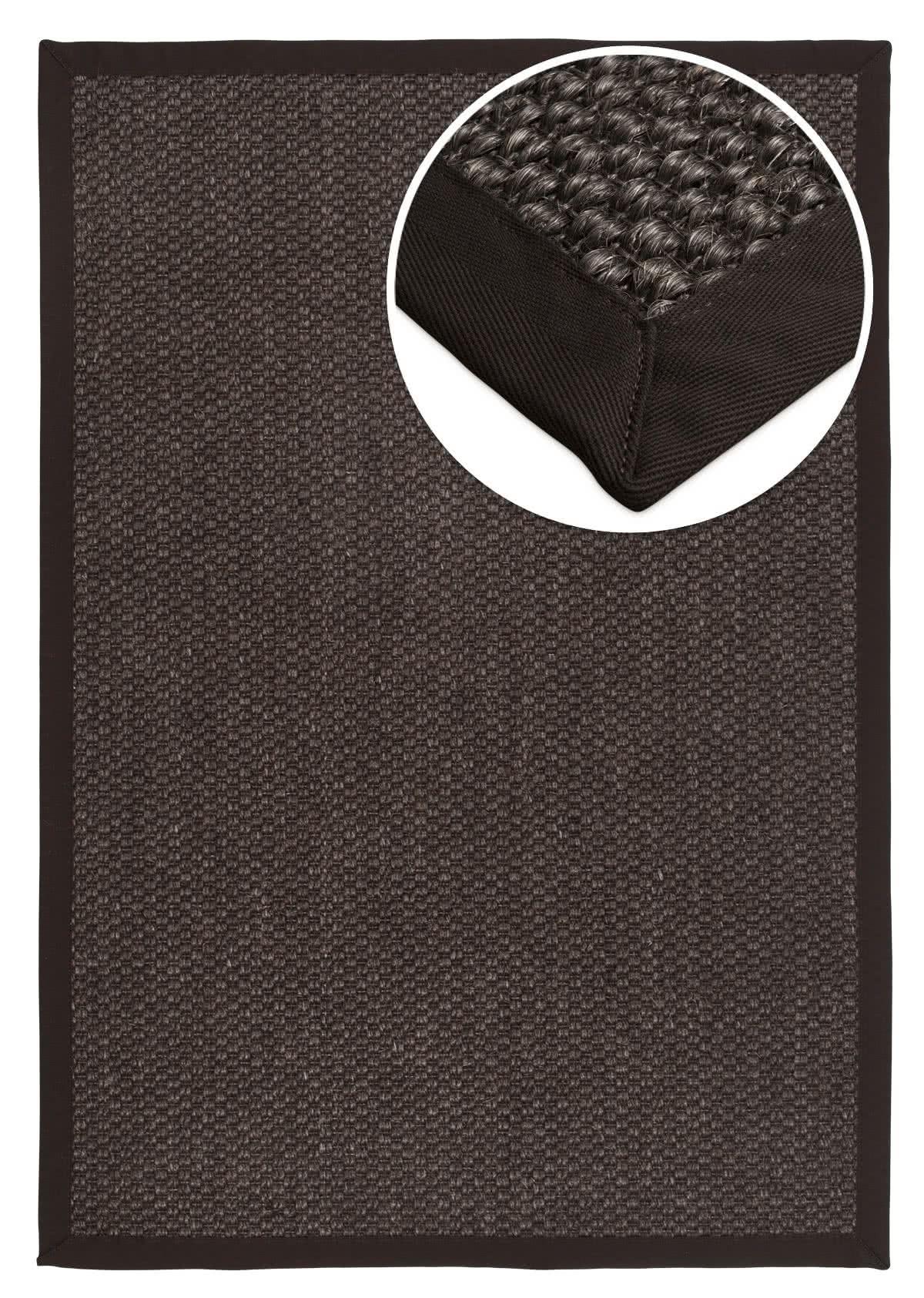 sisal teppich mani dark bean baumwollbord re nach ma. Black Bedroom Furniture Sets. Home Design Ideas