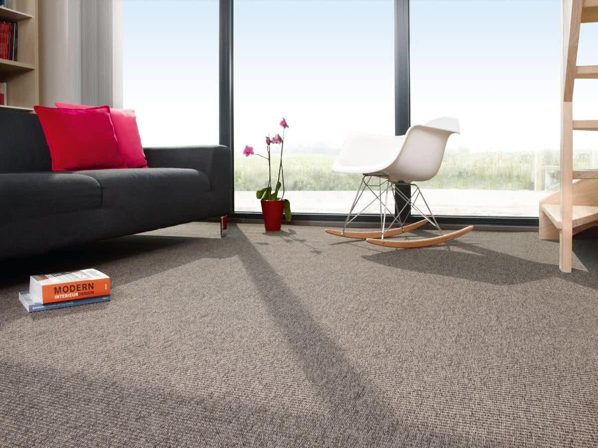 naturino rips grau teppichboden pflegeleicht. Black Bedroom Furniture Sets. Home Design Ideas