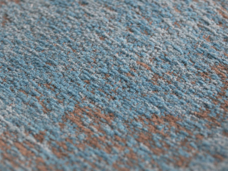 vintage teppich retro azurblau flachgewebt. Black Bedroom Furniture Sets. Home Design Ideas