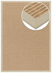 Outdoor Teppich Taffino Tweed natur Bordüre hellbeige